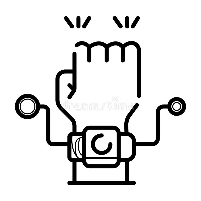 Smartwatch on hand icon royalty free illustration