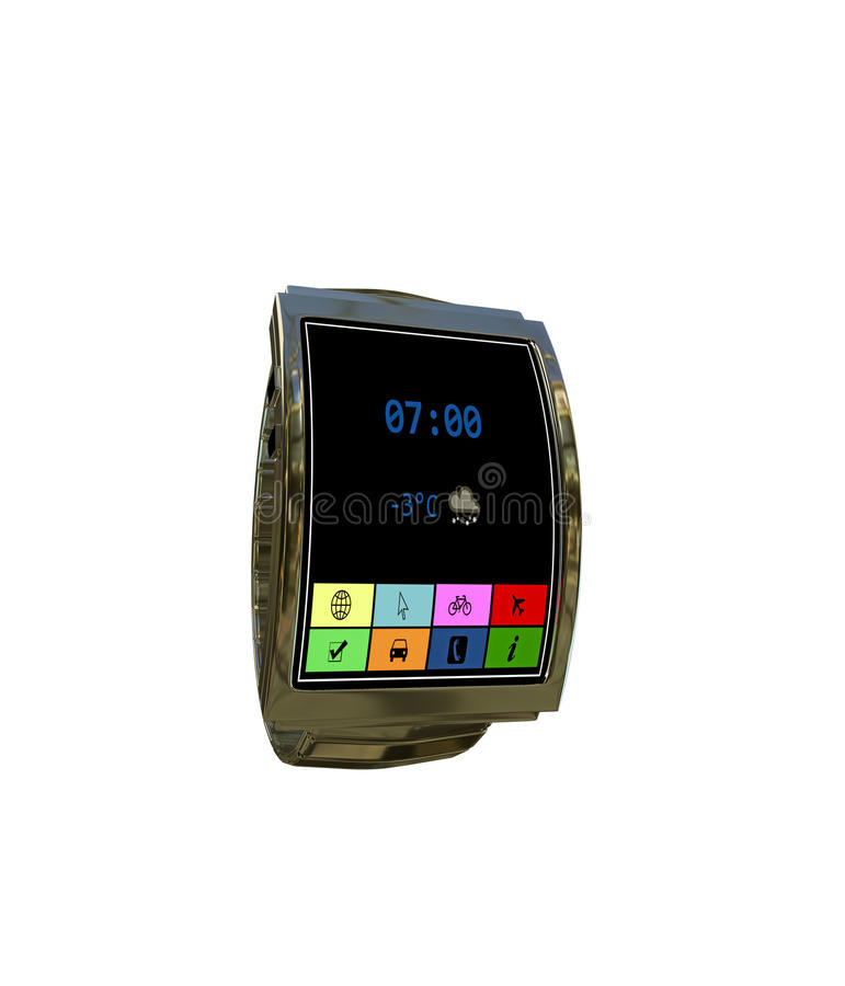 Smartwatch. Isolated on white background stock illustration