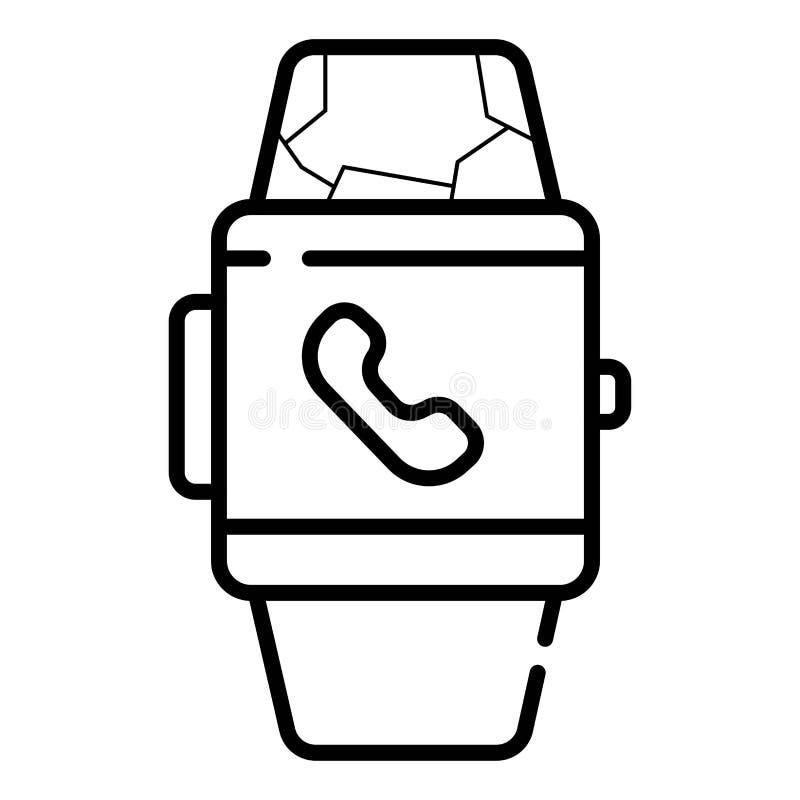 Smartwatch klockaSmart symbol royaltyfri illustrationer