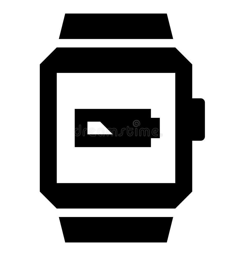 Smartwatch låg batterisymbol royaltyfri foto