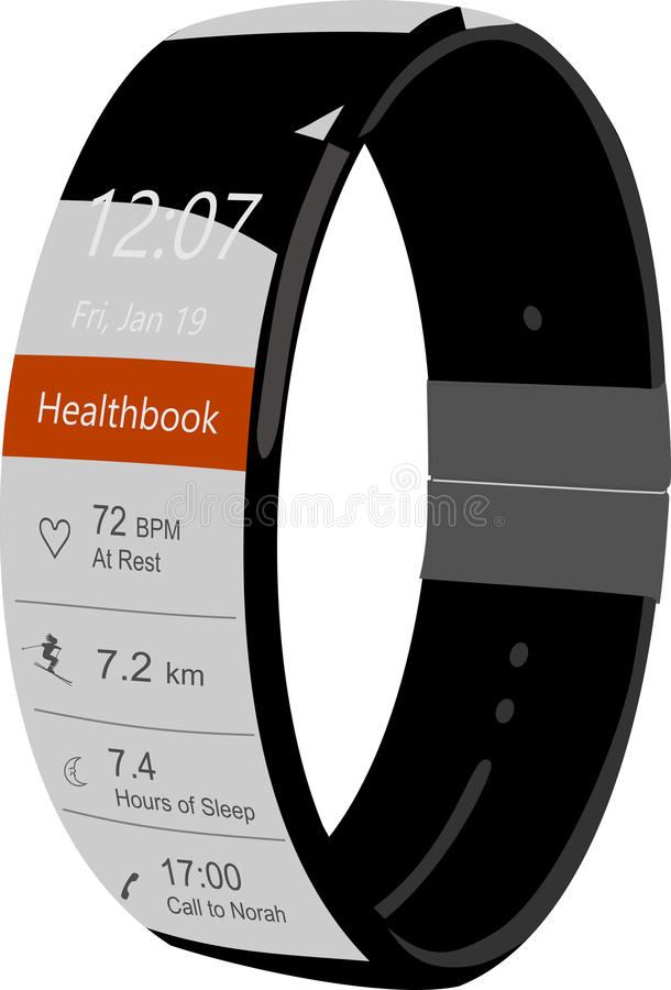 Smartwatch royalty free stock photos