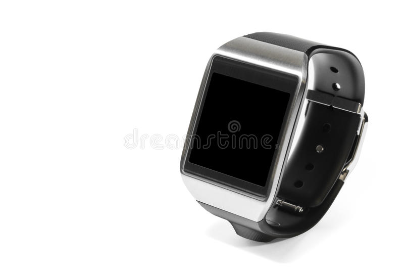 Smartwatch in perspective isolated royalty free stock photo