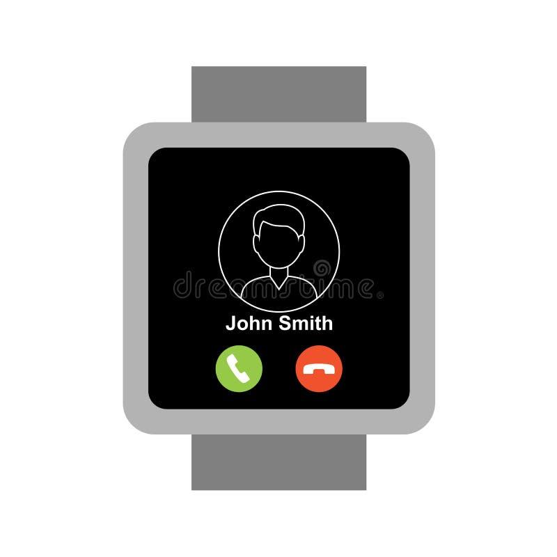 Smartwatch quadrado ilustração do vetor
