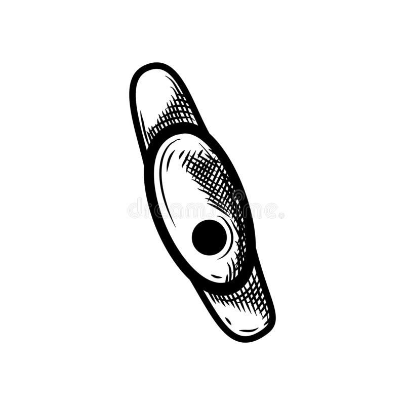 Smartwatch skissar symbolen som isoleras på bakgrund Hand dragen smart klockasymbol Infographic, website eller app-beståndsdel vektor illustrationer