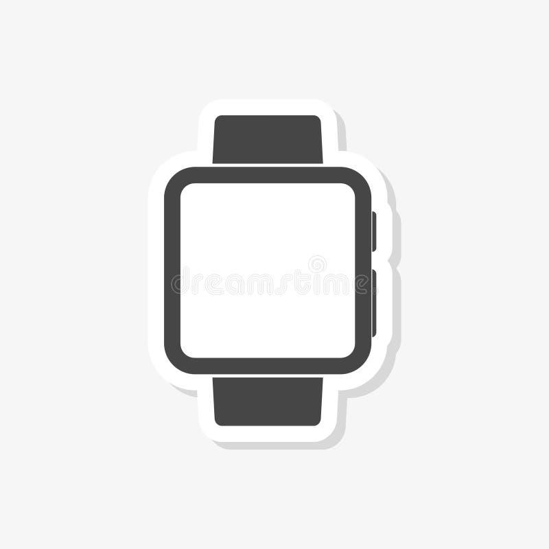 Smartwatch symbol, smart klockaklistermärke, enkel vektorsymbol stock illustrationer