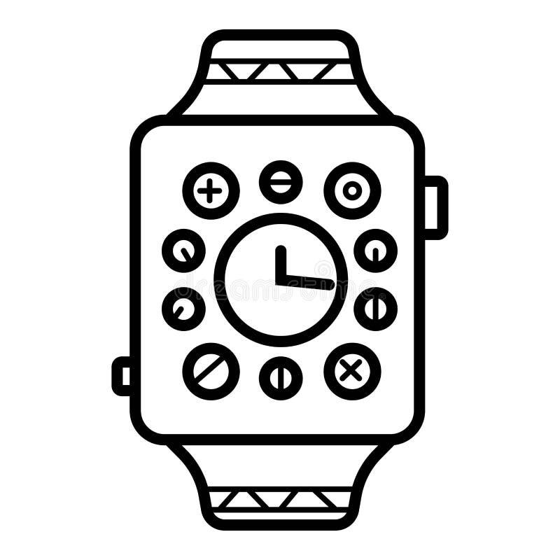 Smartwatch-Uhr-Smart-Vektor-Ikone lizenzfreie abbildung