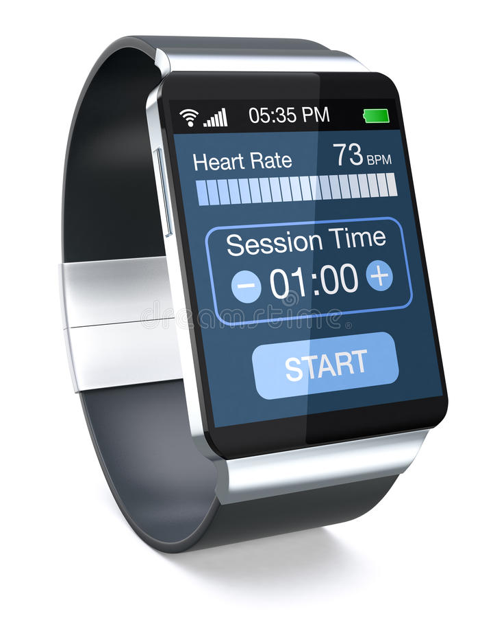 Smartwatch und Eignung lizenzfreie abbildung