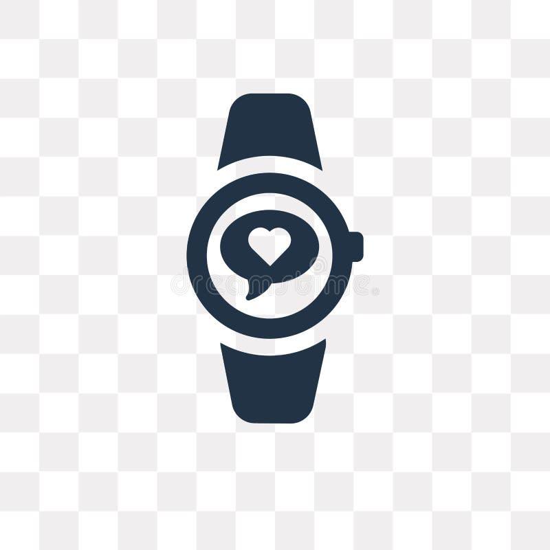 Smartwatch vectordiepictogram op transparante achtergrond, Smart wordt geïsoleerd royalty-vrije illustratie