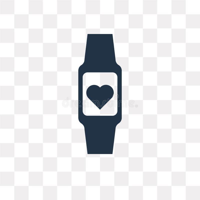 Smartwatch vectordiepictogram op transparante achtergrond, Smart wordt geïsoleerd vector illustratie