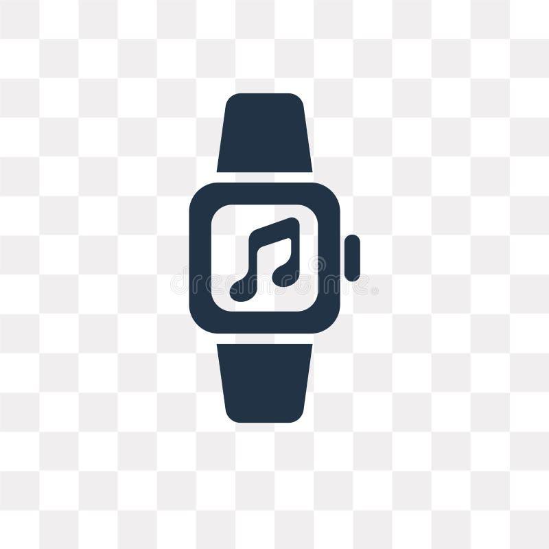 Smartwatch vectordiepictogram op transparante achtergrond, Smart wordt geïsoleerd stock illustratie