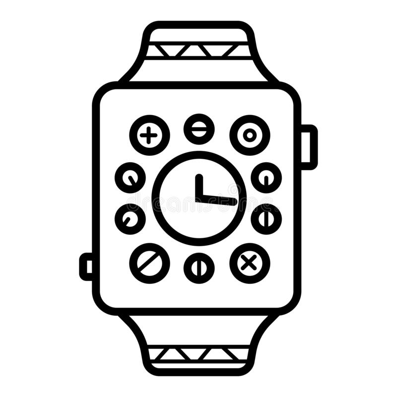 Smartwatch Watch Smart  Vector Icon royalty free illustration
