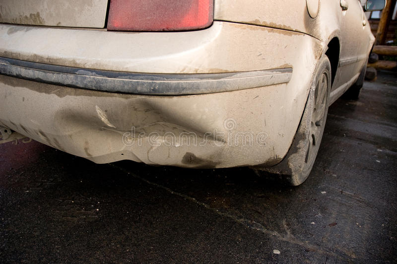 Download Smashed bumper stock image. Image of metal, background - 14353335