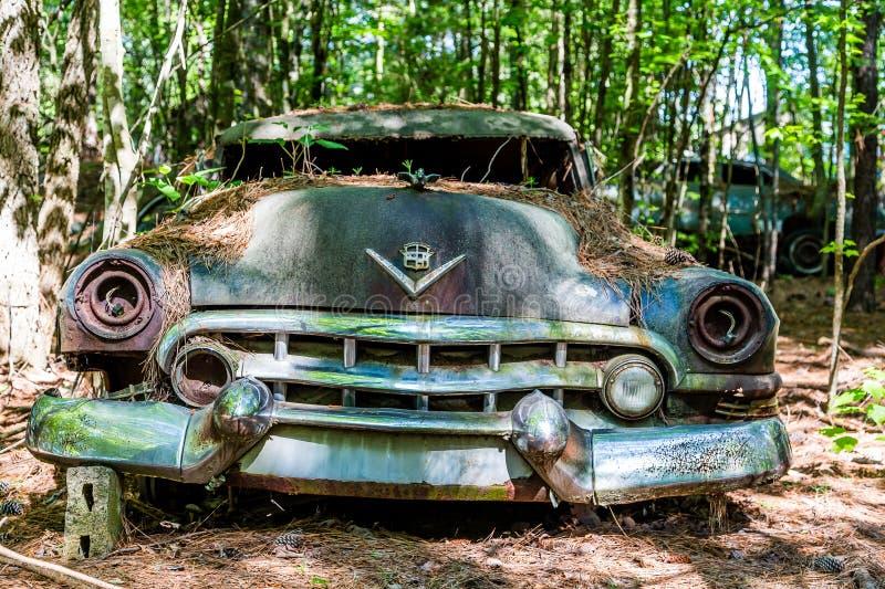 Smashed Cadillac royalty free stock images