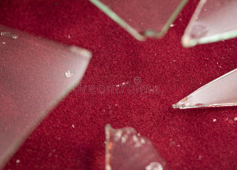Download Smashed glass stock photo. Image of window, theft, security - 16299440