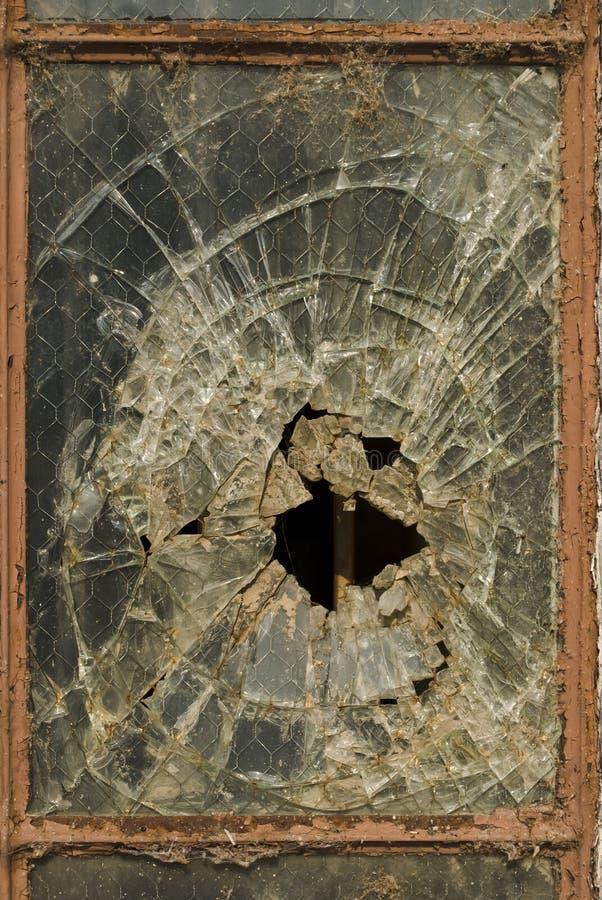 Smashed Glass Stock Photography