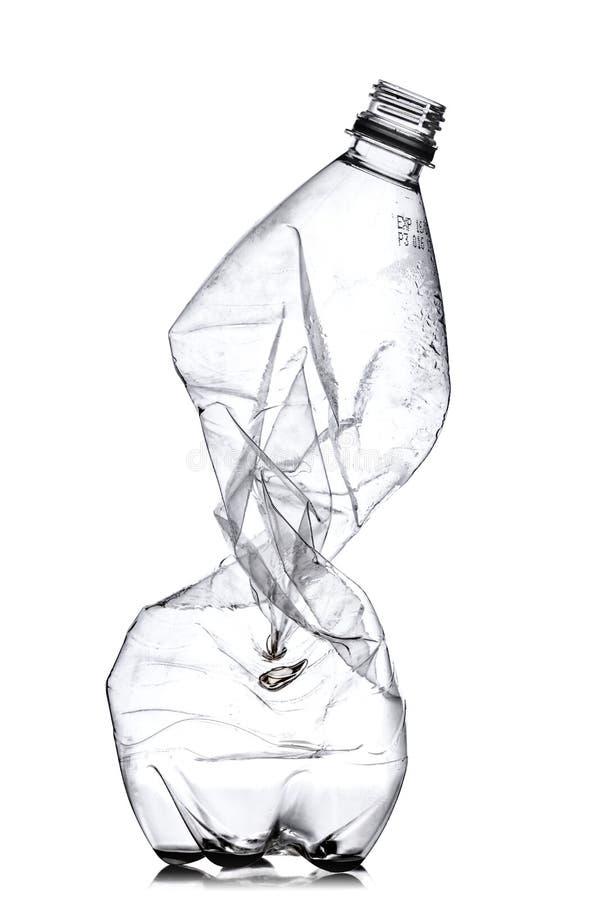 Smashed Plastic Bottle Royalty Free Stock Photography