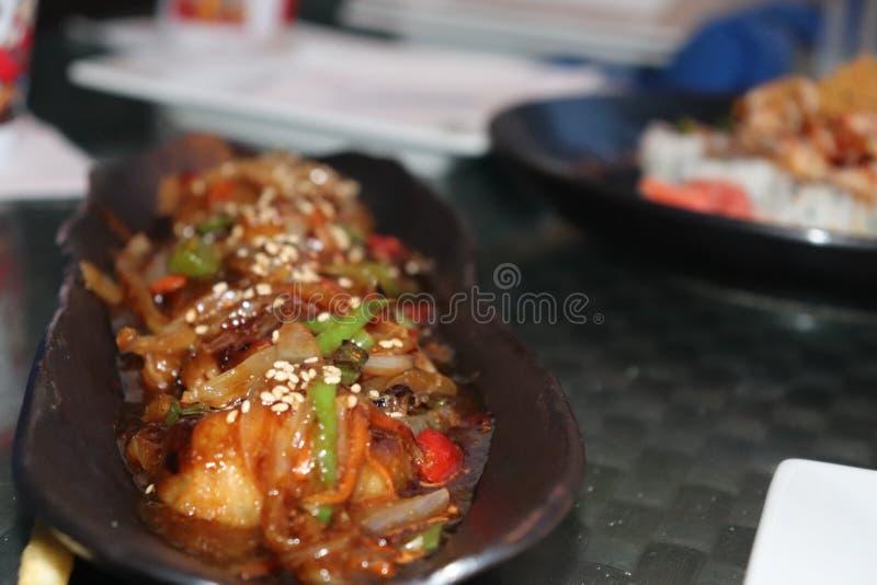 Smaskig och läcker asiatisk mat fotografering för bildbyråer