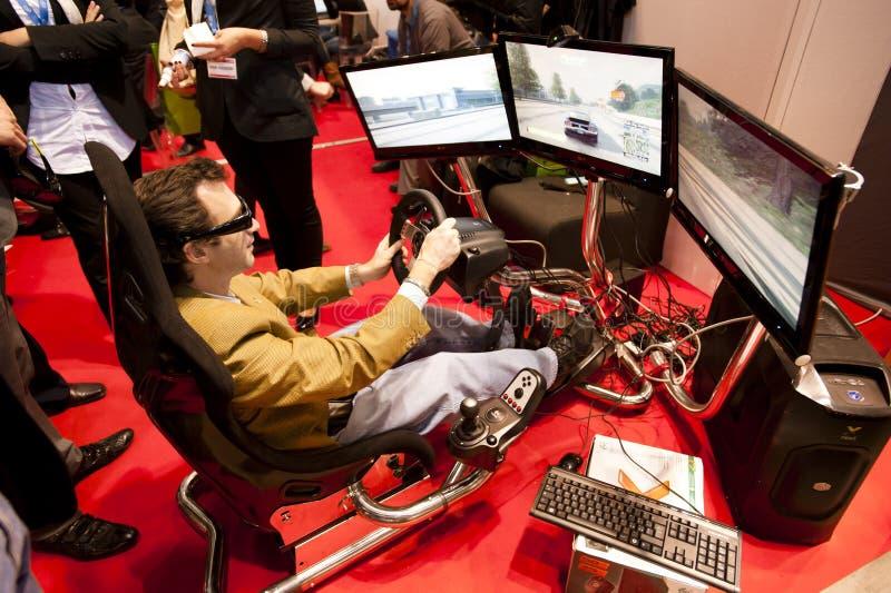 SMAU 2010 - jogo 3d fotos de stock