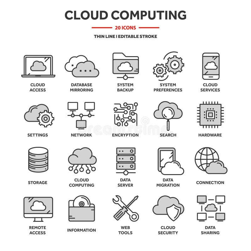 云彩计算 互联网技术 联机服务 数据,信息保障 ?? 稀薄的线蓝色网象 皇族释放例证