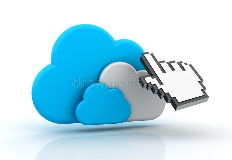 SMAU 2010 - Microsoft nubla-se a computação ilustração do vetor