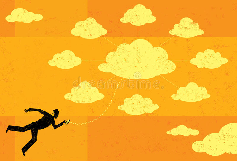 SMAU 2010 - Microsoft nubla-se a computação ilustração royalty free