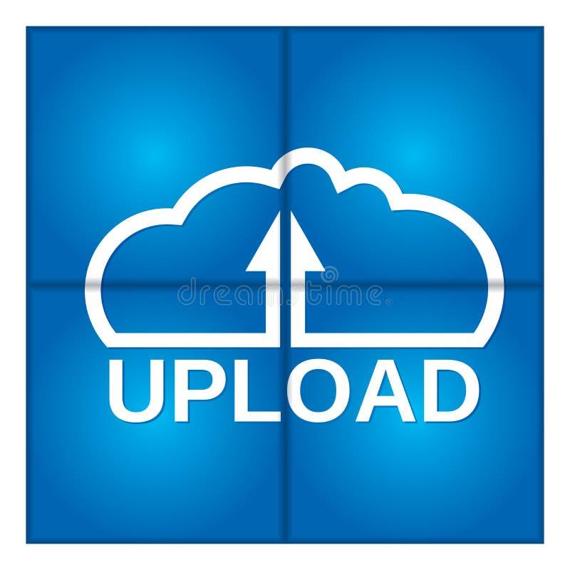 SMAU 2010 - Microsoft nubla-se a computação Dados da transferência de arquivo pela rede ilustração do vetor