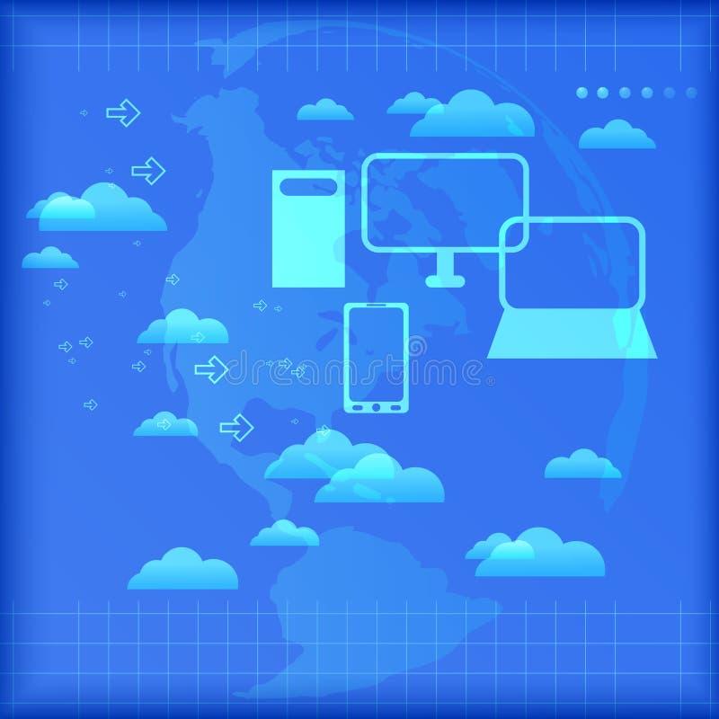 SMAU 2010 - Microsoft se nubla la computación stock de ilustración