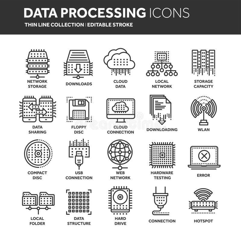SMAU 2010 - Microsoft-Wolkendatenverarbeitung Land und Faltblatt hochladen Dateien über dem Internet Online-Services Daten, Infor vektor abbildung