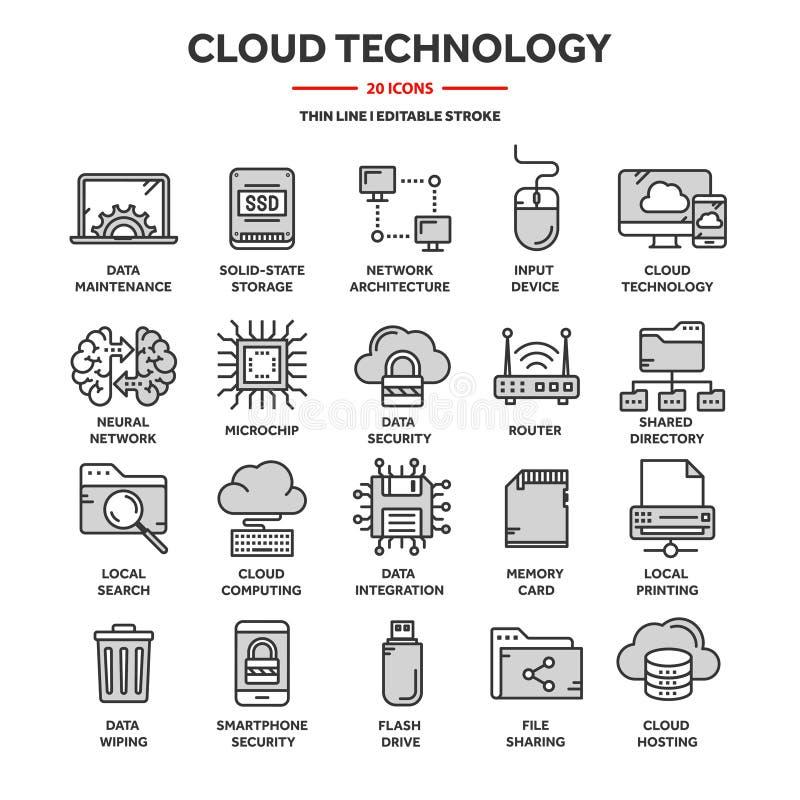 SMAU 2010 - Microsoft-Wolkendatenverarbeitung Land und Faltblatt hochladen Dateien ?ber dem Internet Online-Services Daten, Infor lizenzfreie abbildung