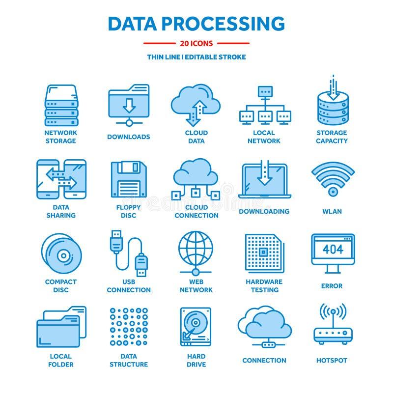 SMAU 2010 - Microsoft-Wolkendatenverarbeitung Land und Faltblatt hochladen Dateien ?ber dem Internet Online-Services Datenverarbe lizenzfreie abbildung