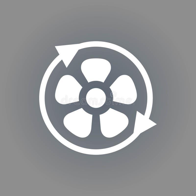 Smazzi la progettazione piana dell'illustrazione di vettore delle azione dell'icona dell'elica aereo royalty illustrazione gratis