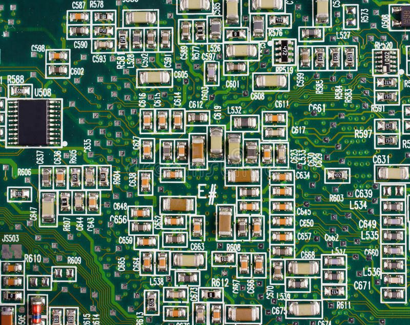 smd circuit board stock image image of semiconductor 22614161 rh dreamstime com 0402 Capacitor 0402 Capacitor