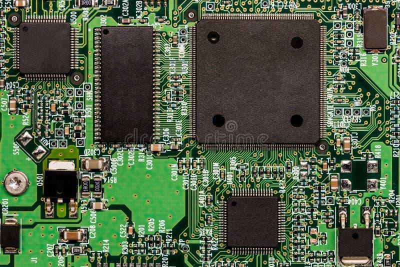 Smd imprimiu a placa de circuito eletrônico com micro controlador fotos de stock