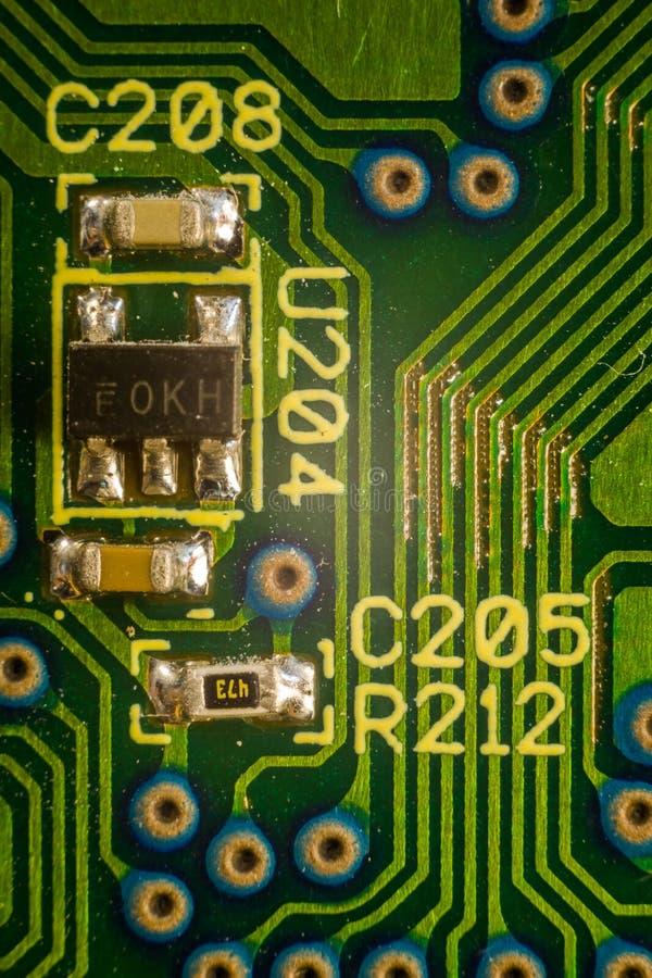 Smd-Komponenten auf PWB lizenzfreies stockbild