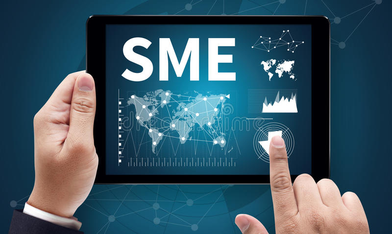 SME or Small and medium-sized enterprises KEY TO SME SUCCESS stock photo