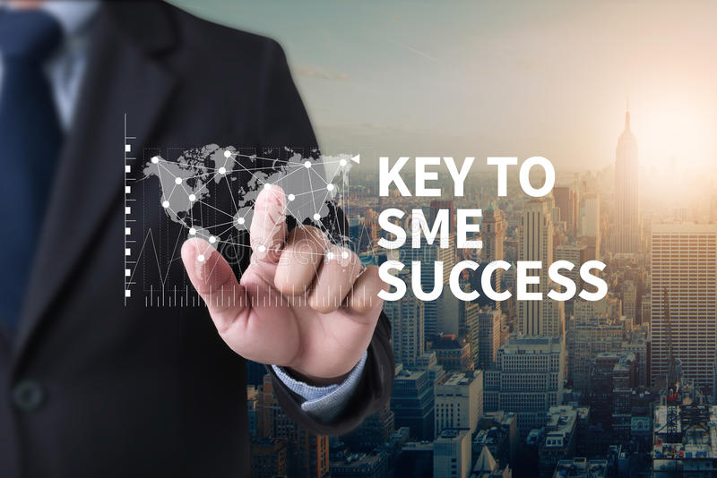 SME or Small and medium-sized enterprises KEY TO SME SUCCESS stock images
