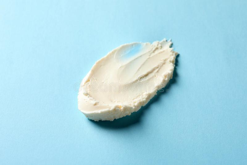 Smear of tasty cream cheese stock photos