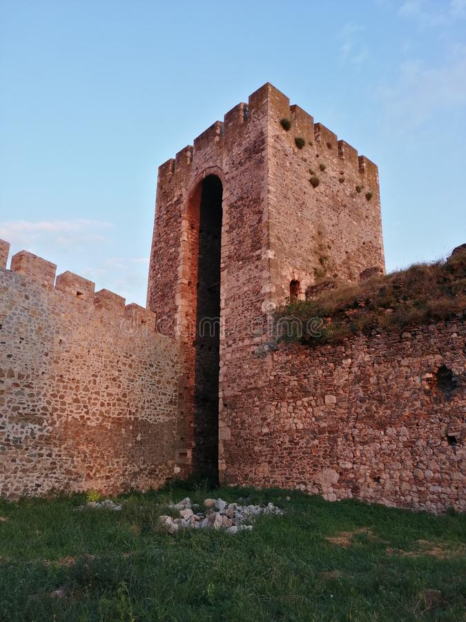 Smederevo fortress in Serbia on the river Danube royalty free stock photos