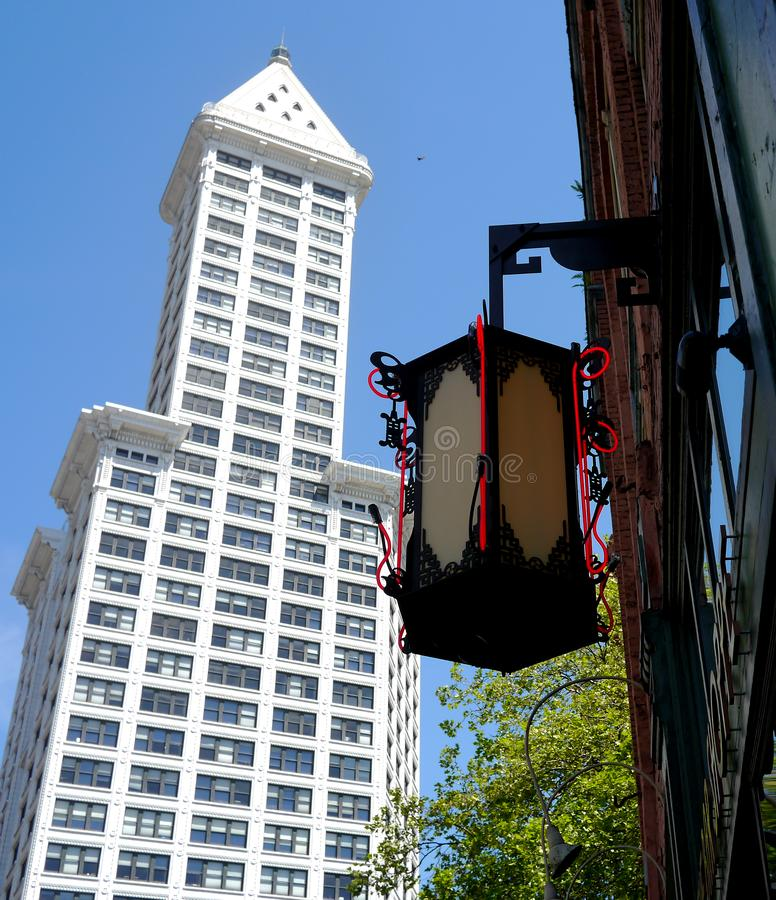 Smedtorn, Seattle, Washington, USA fotografering för bildbyråer