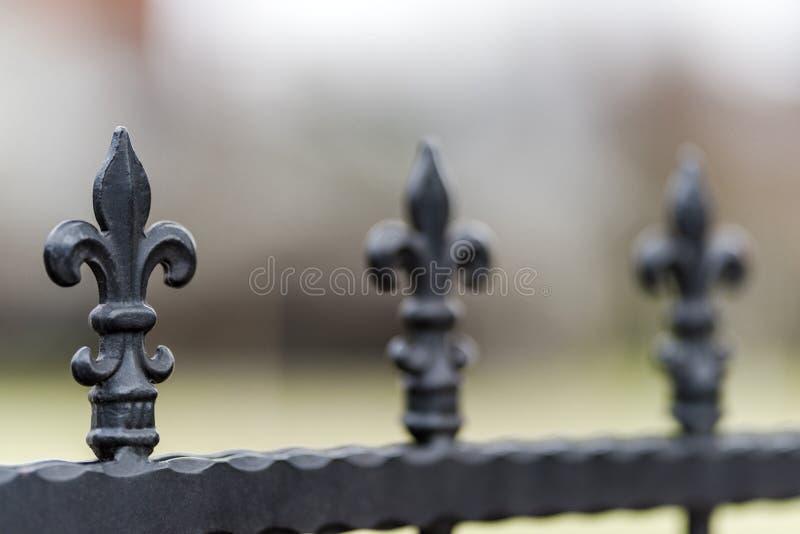 Smeedijzeromheiningen, decoratie royalty-vrije stock fotografie