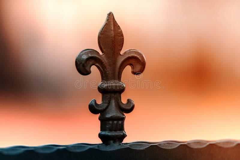 Smeedijzeromheiningen, decoratie royalty-vrije stock afbeelding