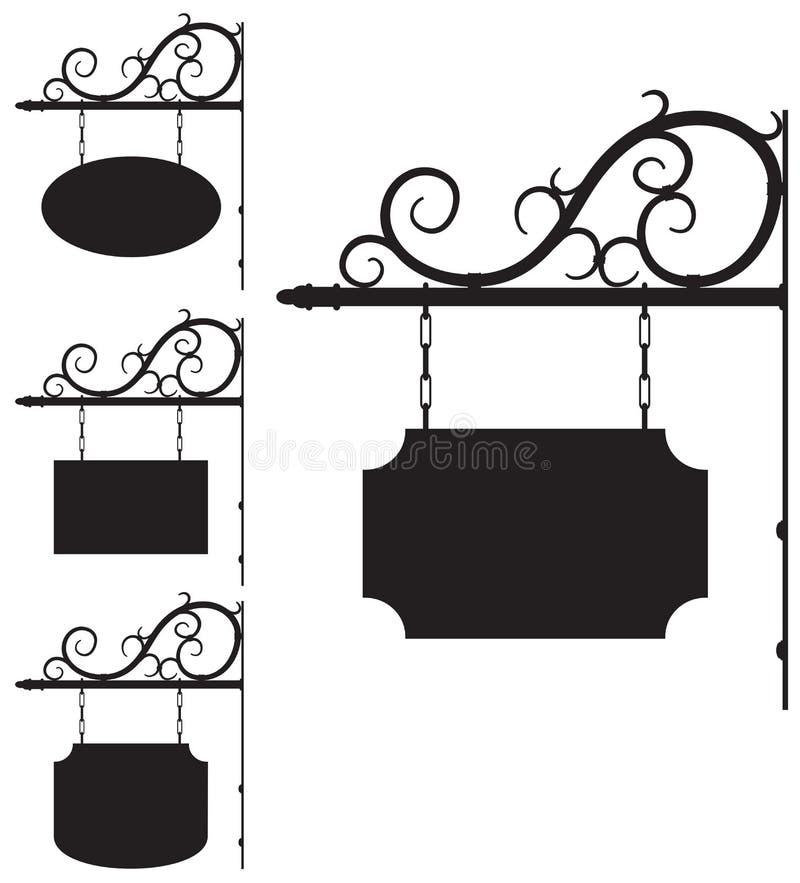 Smeedijzertekens voor ouderwets ontwerp royalty-vrije illustratie
