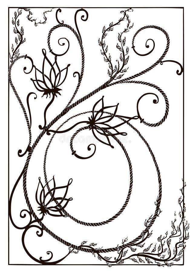 Smeedijzertraliewerk op een venster Smeedijzergrating in de Art Nouveau-stijl royalty-vrije stock fotografie