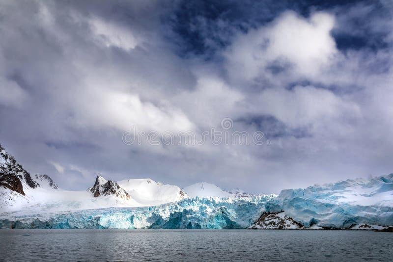 Smeerenburg-Gletscher Svalbard stockbild