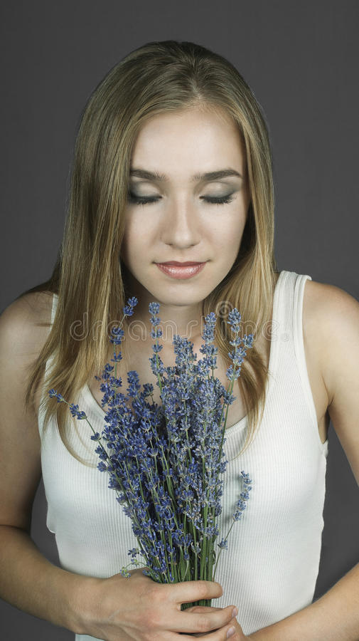 The Smell of Lavender royalty free stock photography