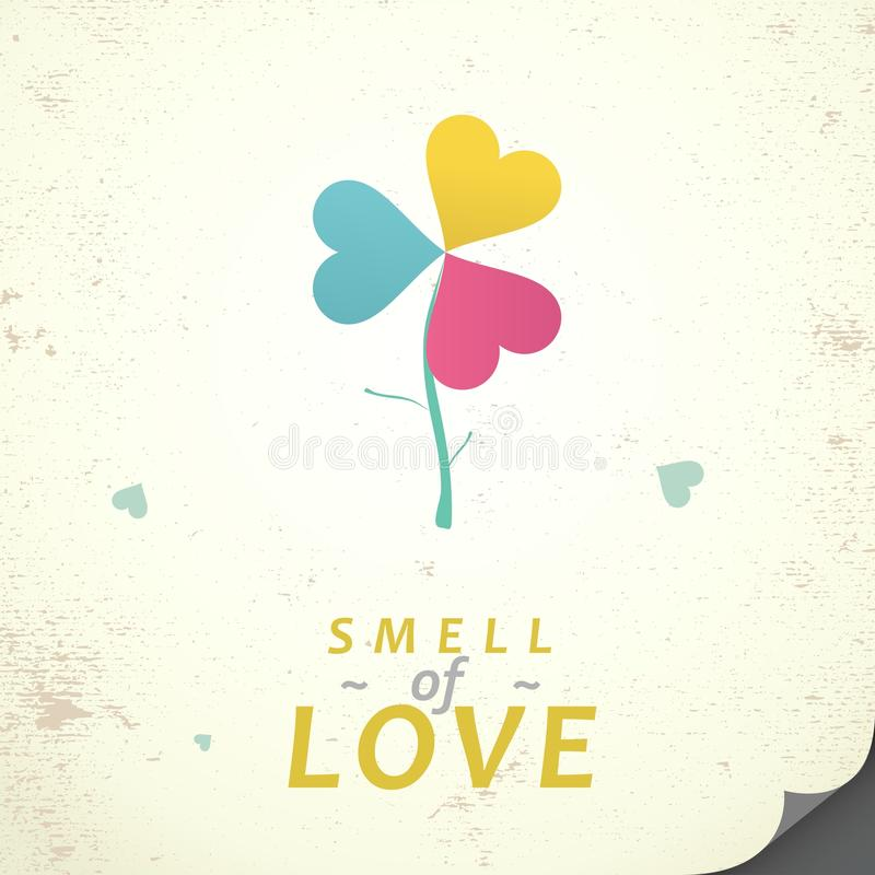 Smell of love royalty free illustration
