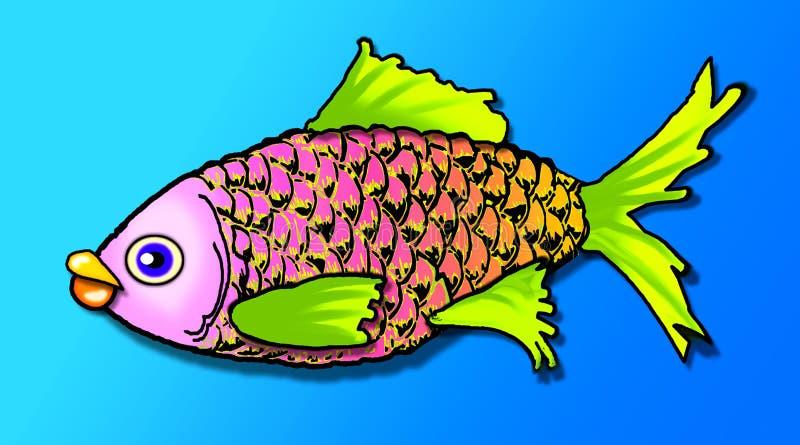 Smells fishy stock illustration