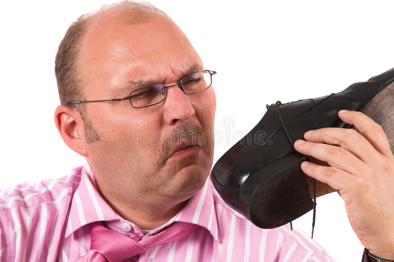 Smelly feet stock photo