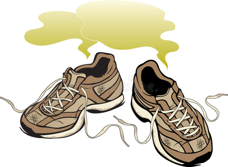 Smelly Sneakers Royalty Free Stock Images