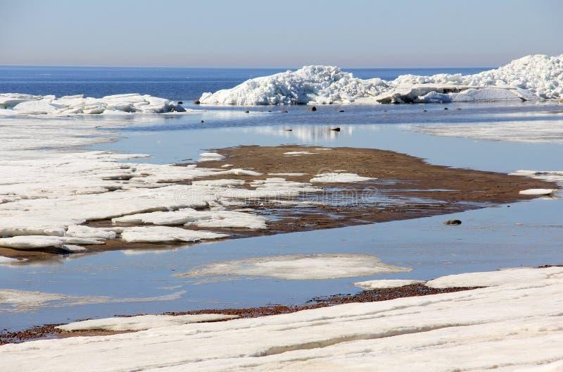 Smeltend ijs vier royalty-vrije stock foto's